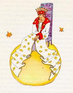 El Rei, aquarel·la d'Atoine de Saint-Exupéri que il·lustra el Petit Príncep