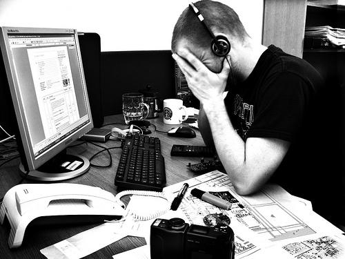 Afectat per l'estrès postvacacional