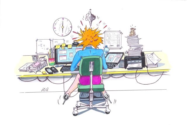 Il·lustració de l'e-Book L'estrès, a ratlla!