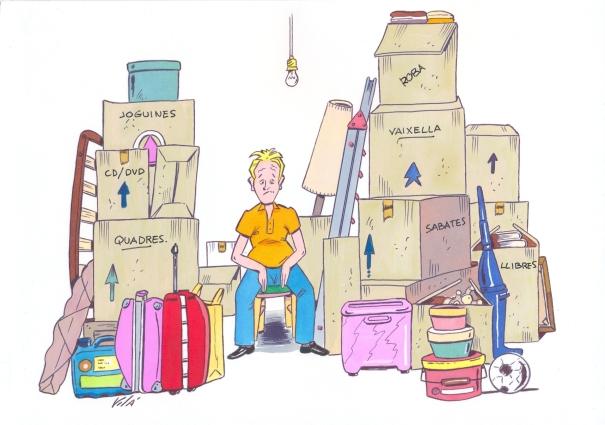 Canvi casa, de José Luís Vilà, il·lustració de l'e-Book L'estrès, a ratlla!