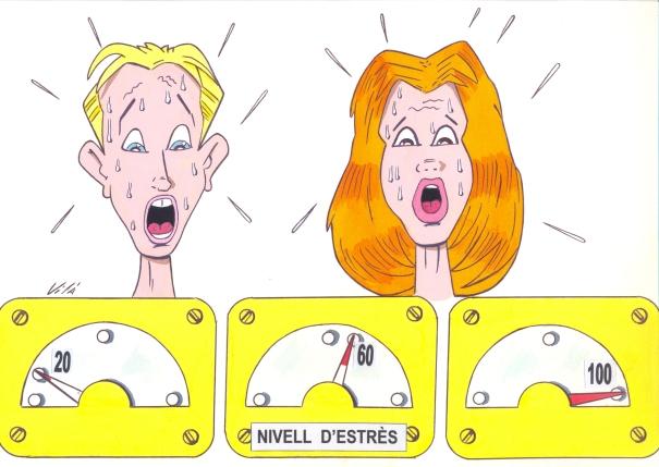 Il·lustració publicada a l'e-Book L'estrès, a ratlla!