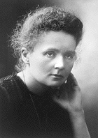 Marie Curie, Nobel Prize awardee in Chemistry. Official Nobel Prize photo, a la Viquipèdia