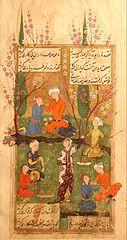 Miniaturmalerei, Divan von Hafiz, Persien, de la Viquipèdia