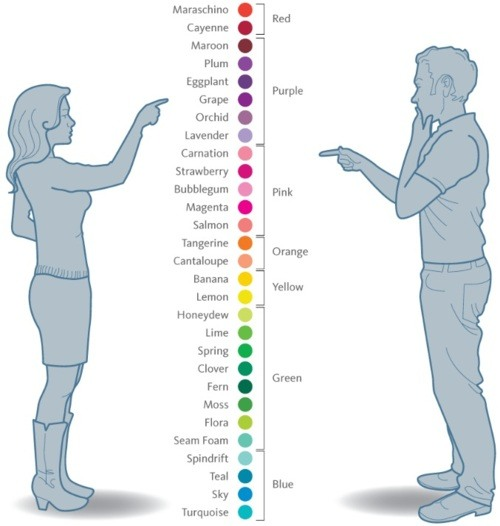 How women and men see colors, a http://todayilearned.co.uk
