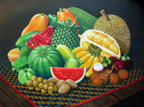 Tropical Fruits, pintura a l'oli de Wizan Zaini, al Flickr