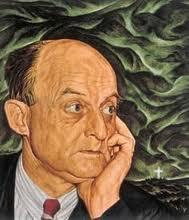 """Retart de Reinhold Niebuhr a la portada del llibre """"The irony of American History"""""""