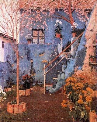 El pati blau a Sitges, de Santiago Rusiñol