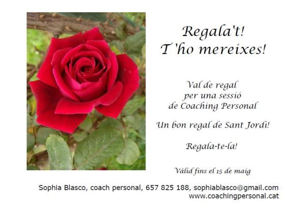 Val de regal sessió de coaching per Sant Jordi