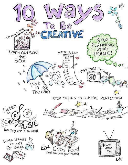 10 ways to be creative, de Léa