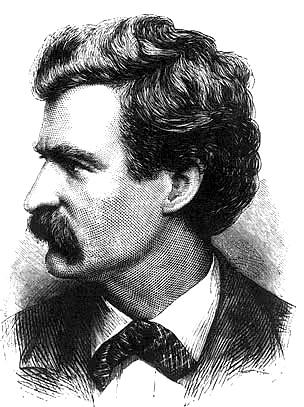 Dibuix de Mark Twain a l'Appleton Journal, 1874, a la Viquipèdia