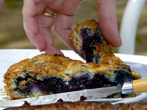 Blueberry pie recipe - Tarta de arándanos casera, de Romina Campos, al Flickr