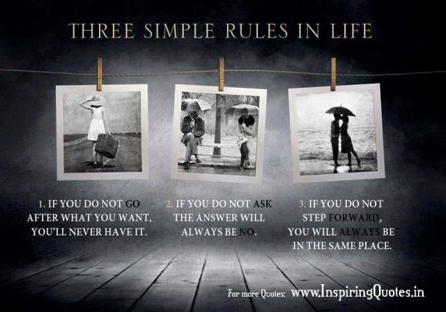 Three simple rules in life, de Inspiring Quotes