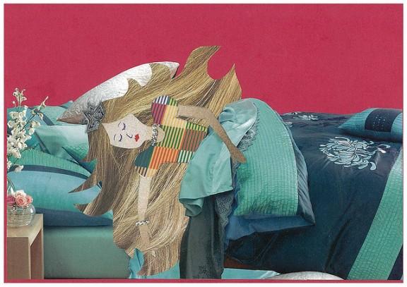 """""""Mixed media Sleeping Beauty"""", de Melanie Hughes, al Flickr"""