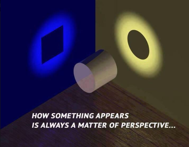 How something appears is always a matter of perspective