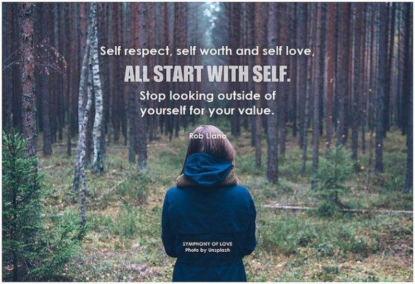 """Self respect, self worth and self love"", de BK al Flickr"