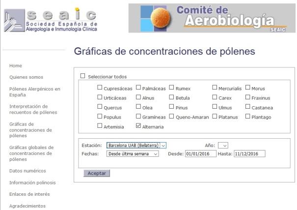 Pàgina oficial del Comité de Aerobiologia
