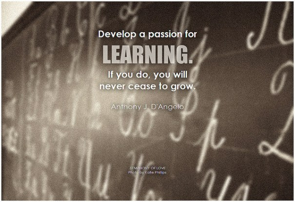 Develop a passion for learning, de BK, al Flick