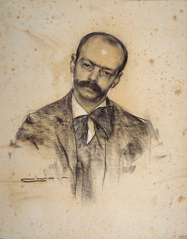 Gabriel Alomar, retrat realitzat per Ramon Casas i Carbó - Museu Nacional d'Art de Catalunya (MNAC)