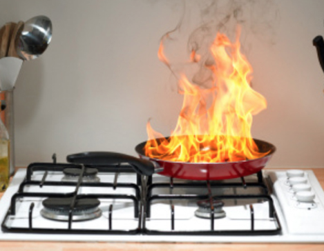Kitchen oil fire