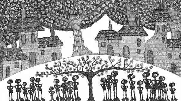 La guerra esperada, il·lustració de Sara Plaza per al conte de Gustavo Duch
