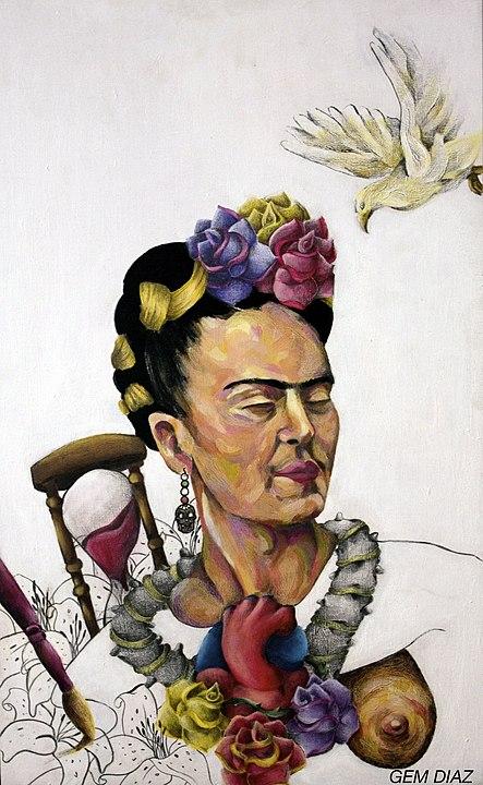 """Homenaje a Frida Kahlo"", de Gemdiaz, a Viquipèdia"